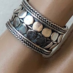 Jewelry - BOHO Sterling silver cigar band ring s 7 925 FAS